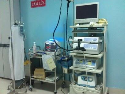 Hệ thống nội soi hiện đại có trang bị công nghệ NBI tại BV Ung thư Đà Nẵng