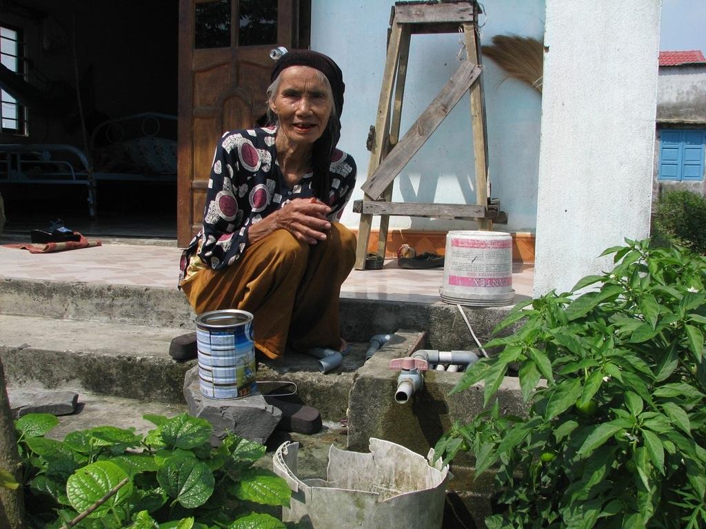 Hơn 250 hộ dân tái định cư ở phường Hòa Hải đang phải dùng nước giếng khoan