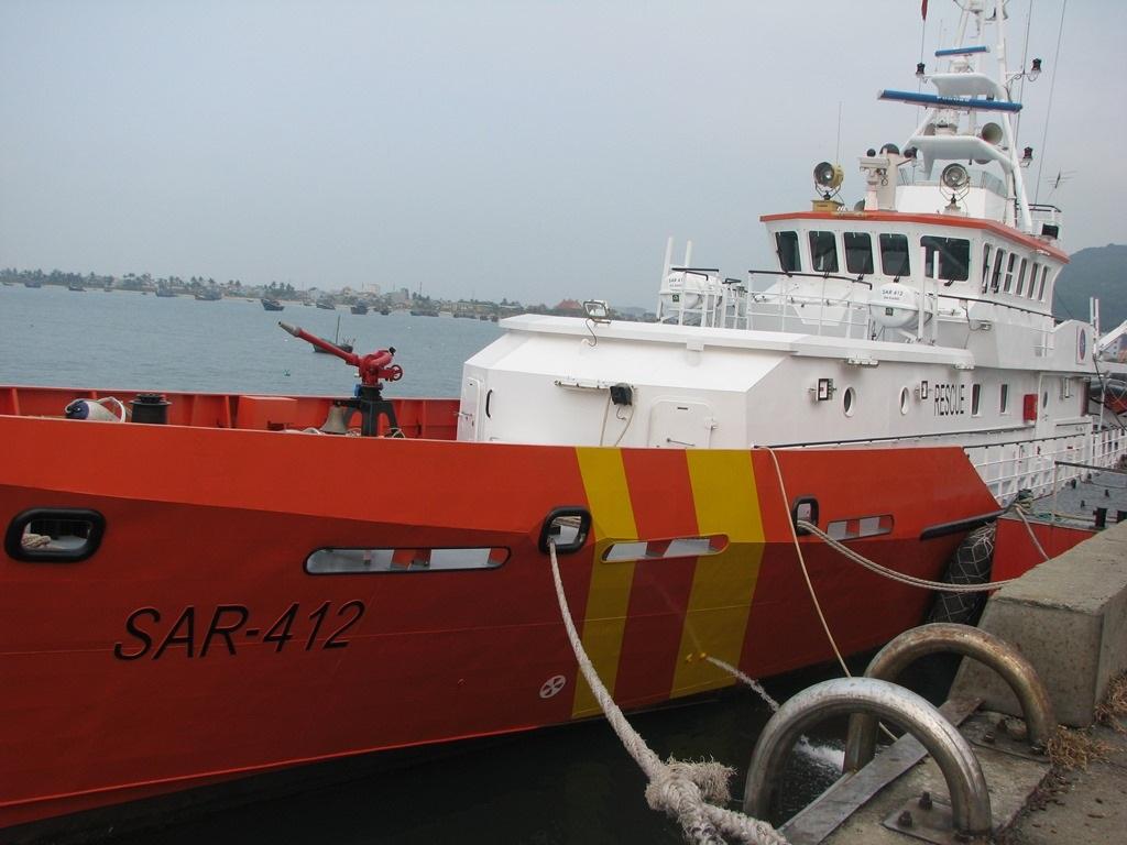 Tàu SAR 412 đã ra khơi để hỗ trợ ngư dân gặp nạn