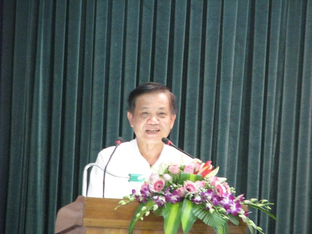Bí Thư thành ủy Đà Nẵng Trần Thọ phát biểu tại buổi lễ