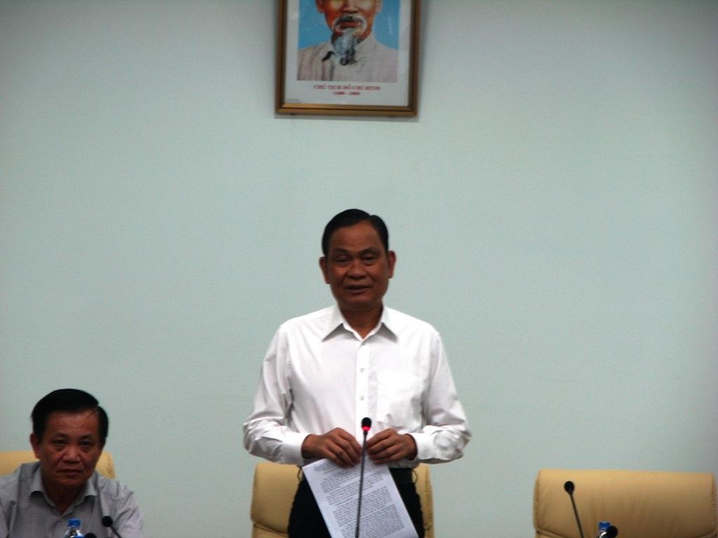 Bộ trưởng Nguyễn Thái Bình kết luận buổi làm việc (Ảnh: Khánh Hồng).