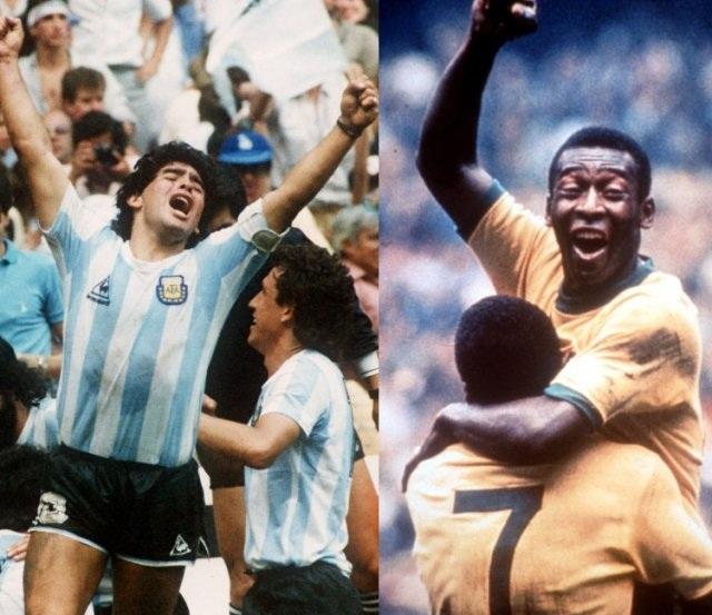 Pele và Maradona, hai huyền thoại vĩ đại bậc nhất thế giới