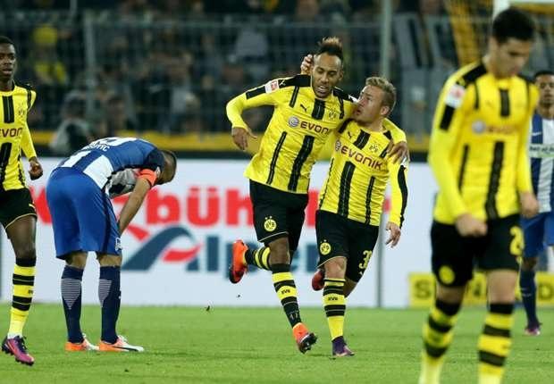 Aubameyang mang về 1 điểm quý giá cho Dortmund