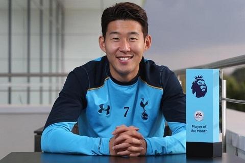 Son Heung-min là cầu thủ châu Á đầu tiên nhận giải xuất sắc nhất tháng ở Premier League