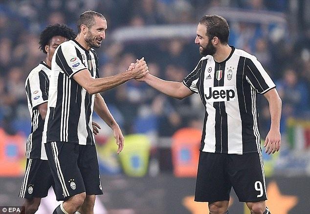 Chiellini lập cú đúp giúp Juventus đại thắng Sampdoria