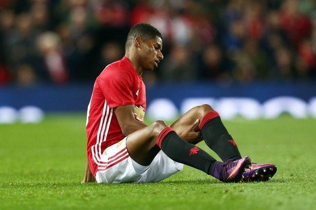 Marcus Rashford dính chấn thương ở trận đấu gặp Man City