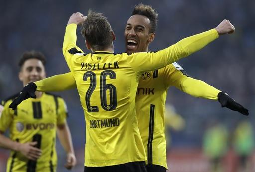 Aubameyang ghi 4 bàn thắng giúp Dortmund chiến thắng