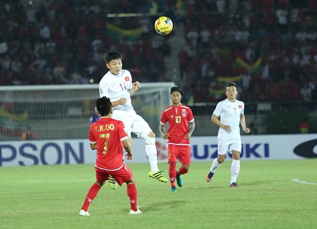 Xuân Trường thi đấu tốt trước Myanmar