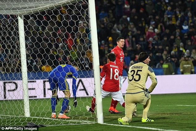 Bayern Munich bất ngờ gục ngã trước Rostov