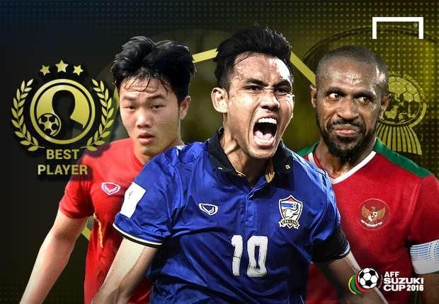 Ba cầu thủ lọt vào cuộc bầu chọn cuối cùng danh hiệu Cầu thủ xuất sắc nhất AFF Cup 2016 của tờ Goal
