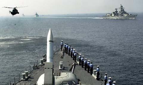 Hải quân 14 nước tập trận trên vịnh Bengal   - 1