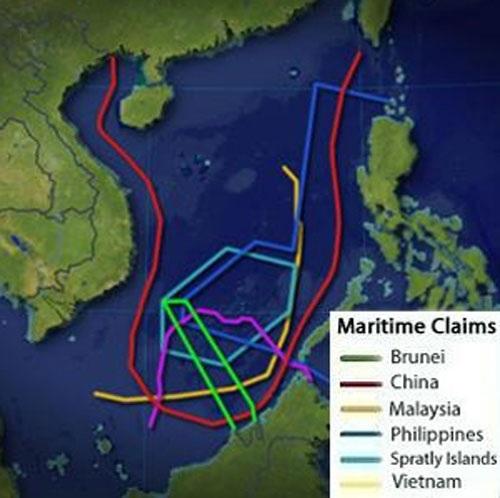 Bản đồ trái phép của Trung Quốc về Biển Đông.