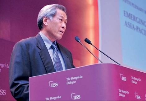 Bộ trưởng Quốc phòng Singaporore Ng Eng Hen phát biểu tại Đối thoại Shangri-la 12.