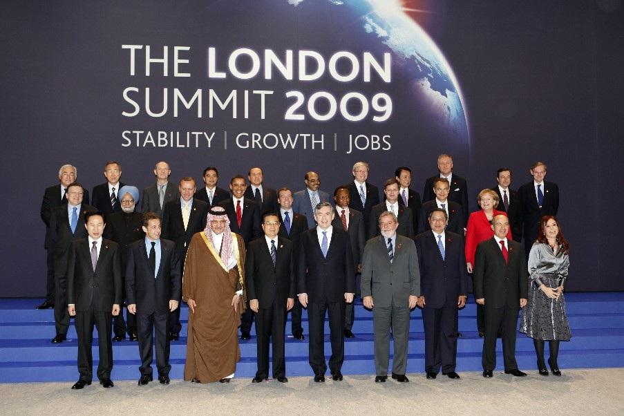 Lãnh đạo các nước tham dự Hội nghị thượng đỉnh G-20 tại London năm 2009.