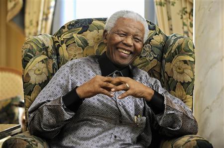 Cựu Tổng thống Nam Phi Nelson Mandela khi còn khỏe mạnh.