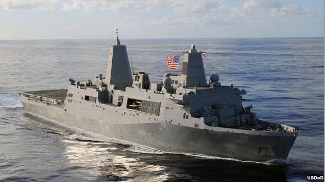 Tàu đổ bộ USS San Antonio đã được điều động đến Ðịa Trung Hải
