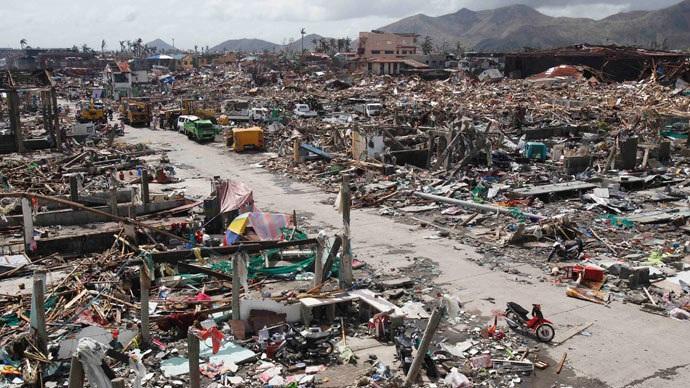 Sức tàn phá khủng khiếp của siêu bão Haiyan.