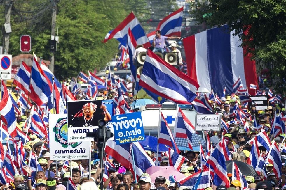 Bangkok lại rúng động vì làn sóng biểu tình của phe đối lập