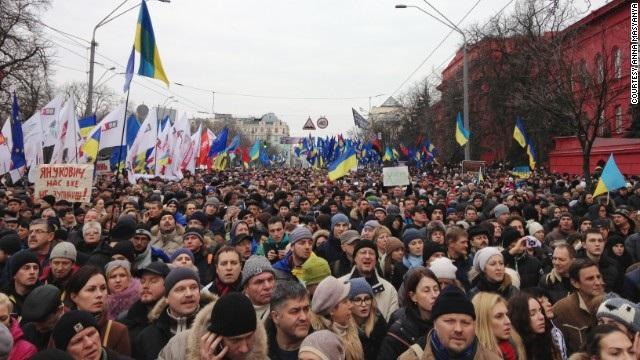 Các cuộc tuần hành phản đối chính phủ Ukraina đã bước sang tuần thứ 7 liên tiếp.
