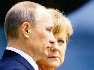 """Thủ tướng Đức Angela Merkel là nhà lãnh đạo châu Âu đầu tiên lên tiếng """"bảo vệ"""" Nga."""