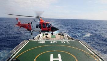 Hải tuần 01 là tàu đầu tiên bắt được xung điện ở vùng biển máy bay Malaysia mất tích.