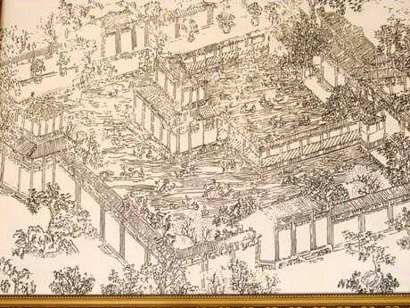 Bản vẽ vườn Thượng uyển Cơ Hạ xưa