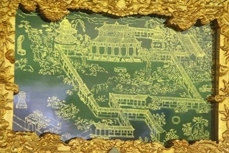 Hình ảnh vườn Thượng uyển Thiệu Phương qua tranh gương