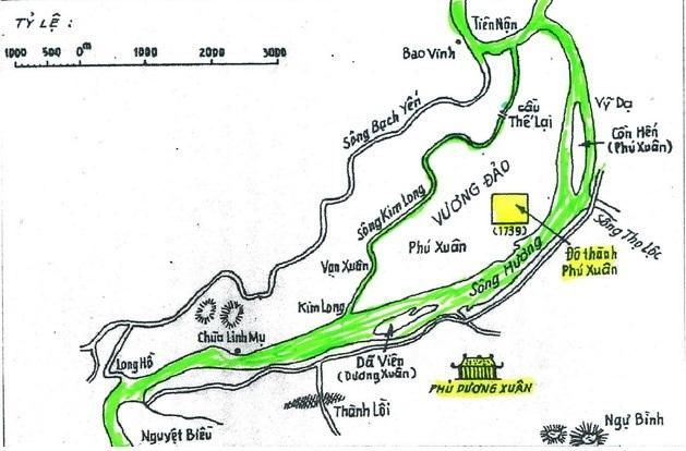 Đô thành Phú Xuân xây dựng trên Vương đảo (Tư liệu Phan Thuận An)