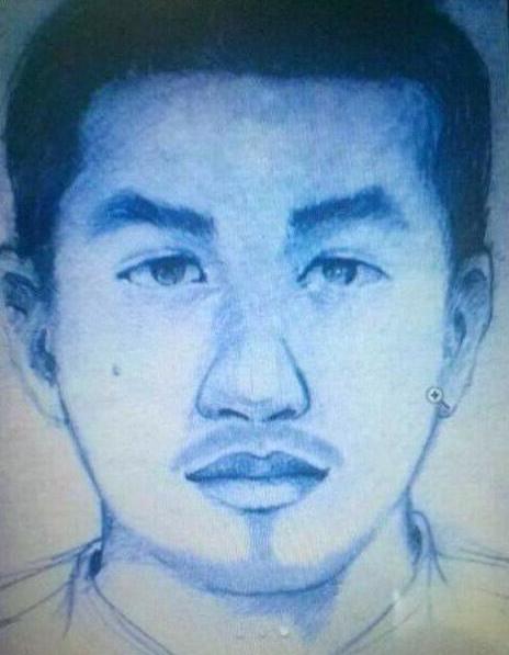 Phác thảo tên cướp sau khi vụ cướp diễn ra của công an tỉnh Thừa Thiên Huế rất giống với khuôn mặt tên cướp hiện tại