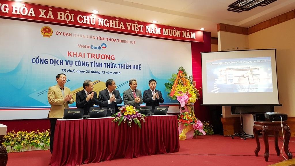 Ra mắt Cổng dịch vụ công tỉnh Thừa Thiên Huế trên mạng