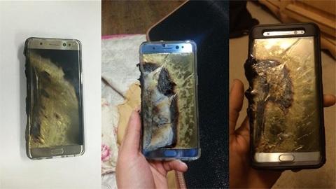 Điện thoại thông minh Samsung Galaxy Note 7 bị sự cố cháy nổ ngay sau khi ra mắt chưa đầy 1 tháng (ảnh minh họa)