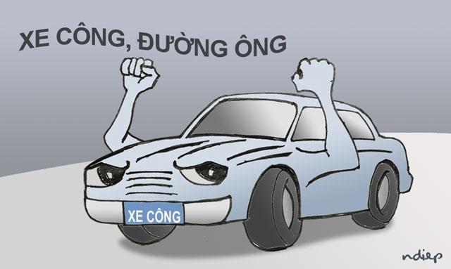 Nhiều người đi xe biển xanh đang hiểu sai về xe ưu tiên và tự cho mình quyền được ưu tiên (ảnh minh họa: Ngọc Diệp)