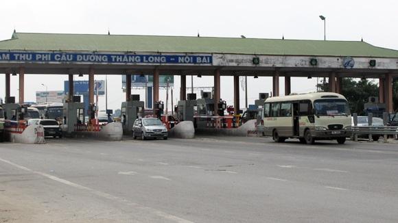 Trạm thu phí trên tuyến Bắc Thăng Long - Nội Bài đang thu hộ phí hoàn vốn cho tuyến tránh TP Vĩnh Yên, tỉnh Vĩnh Phúc (ảnh: Chinhphu.vn)