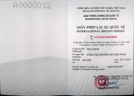 GPLX quốc tế được Việt Nam cấp, có giá trị lưu hành sử dụng tại 84 quốc gia thành viên của Công ước 1968
