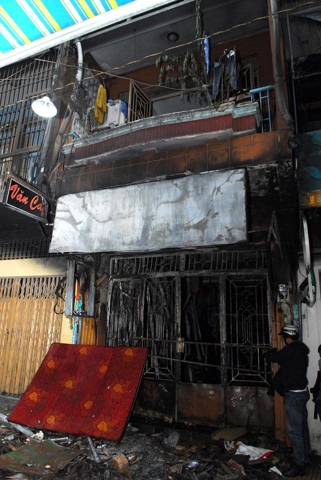 Căn nhà xảy ra cháy khiến 6 người tử vong.