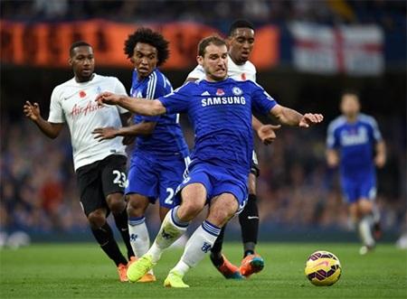 Chelsea đã gặp nhiều khó khăn từ lối chơi thiếu sinh khí