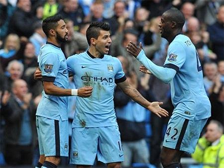 Niềm vui của các cầu thủ Man City