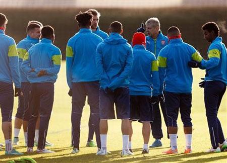 Arsenal im lìm chuẩn bị tới Thổ Nhĩ Kì
