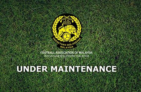Trang web của LĐBĐ Malaysia đang đóng cửabảo trì