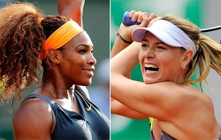 Serena Williams chiến đấu với Sharapova vì chiếc cúp vô địch