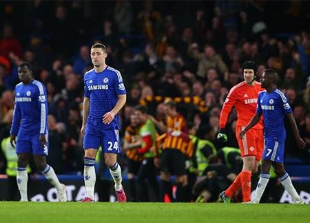 Các cầu thủ Chelsea thất vọng tràn trề