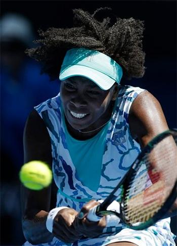 Venus thi đấu rất chắc tay trong trận đấu này