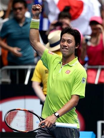 Niềm vui chiến thắng của Nishikori