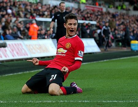 Niềm vui của Herrera khi giúp MU có được bàn thắng