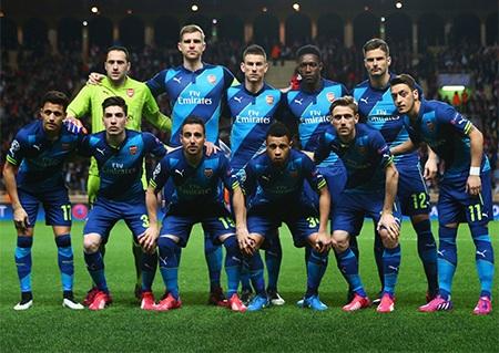 Đội hình Arsenal ra sân thi đấu trận lượt về vòng 1/8