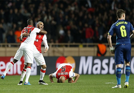Niềm vui của Ramsey sau khi ghi bàn