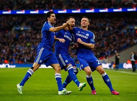 Niềm vui của Terry sau khi ghi bàn mở tỉ số