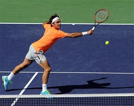 Federer đang là tay vợt giàu thành tích nhất ở Indian Wells