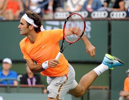 Federer đã thích nghi tốt với điều kiện thi đấu