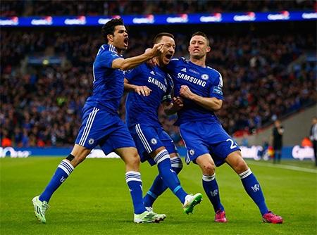 Niềm vui lớn của Terry và các cầu thủ Chelsea